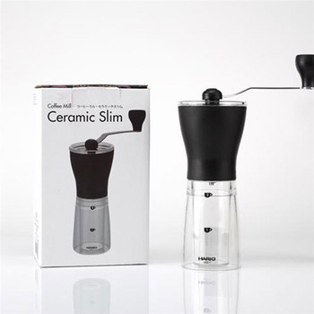 Free Shipping New Portable Ceramic Burr Mini Mill Slim Manual Hand Coffee Grinder HA205