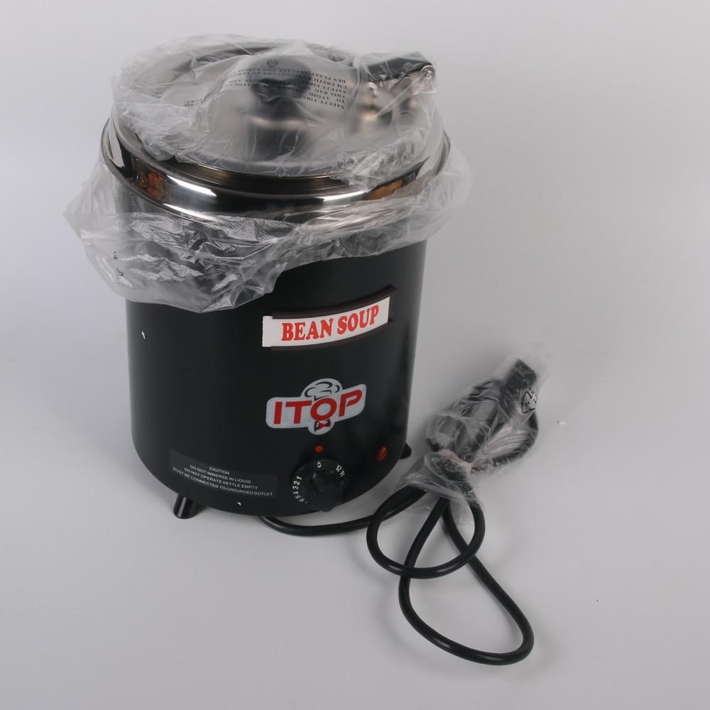 electric soup ketter wet heat food warmer commercial black stainless steel pot - Soup Warmer