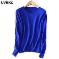 UVKKC 2017 New Autumn And Winter Female Cotton Cashmere Sweaters Slim Plus Size Pullover Sweater O