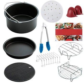 Chaud! Nouvel ensemble d'accessoires pour friteuse à Air de 10 pièces, convient à toutes les friteuse à Air Standard 3.7QT-5.3QT-5.8QT, 7 pouces