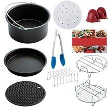 Hot! New Air Fryer Accessories Set of 10 pcs, Fit all Standard 3.7QT- 5.3QT- 5.8QT, 7 Inch