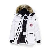 2018 зимняя куртка пуховик Для женщин Длинная парка пальто Для женщин s пуховики теплый натуральный меховой воротник с капюшоном вниз пальто