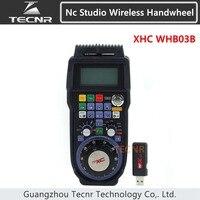 XHC NCStudio CNC handwheel wireless nc studio MPG pendant handwheel for milling machine 3 axis WHB03B