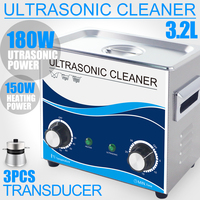 Ultrasonic Cleaner 3.2L 180W Heater 110V/220V 40KHZ Household Ultrasound Cleaning Jewelry Washer Watch Chains Glasses Cellphone