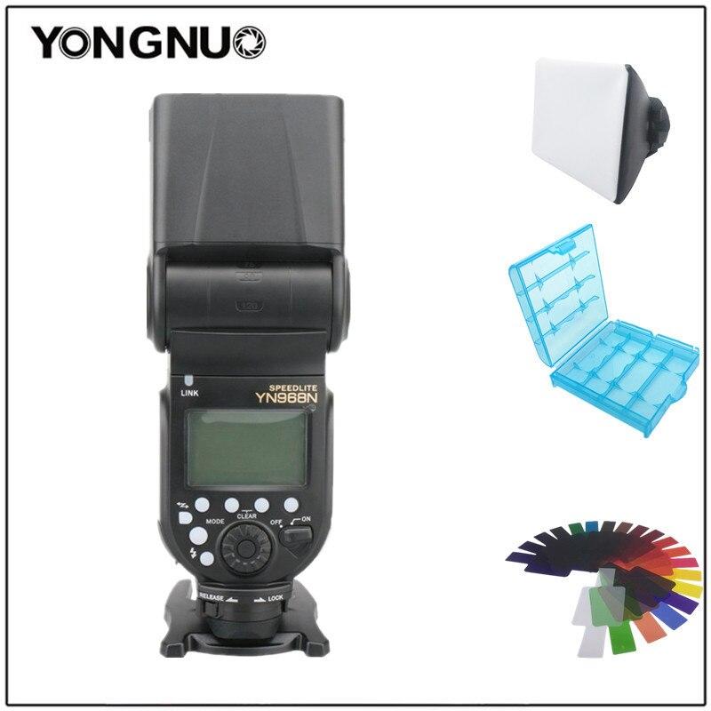 YONGNUO YN968N Wireless Camera Flash Speedlite Master Optical Slave HSS TTL for Nikon D750 D810 D610 D7200 D3500 D5600 D7100 yongnuo yn568ex iii 2 4g ttl high speed sync wireless flash speedlite for nikon d750 d810 d3400 d3200 d5600 d5300 d7100 d7200