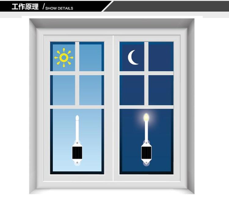 2 шт./лот 2 В 1 Вт IP65 Открытый водонепроницаемый солнечной настенный светильник светодиодный свечи факел лампы оптически управления Светодио...