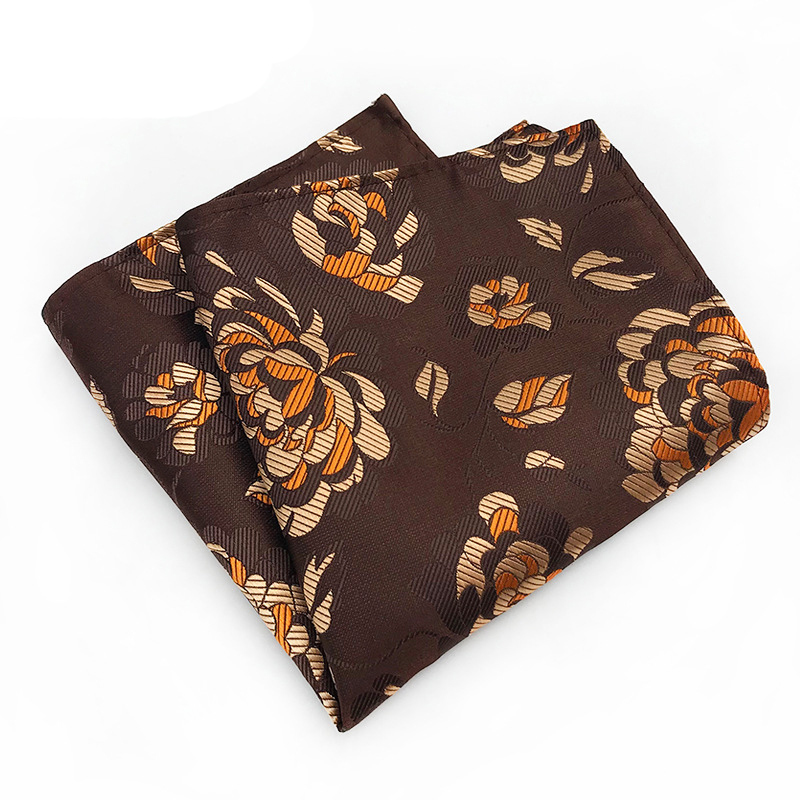 Mens Handkerchief Floral Pocket Square Banquet Hankies For Men Brand Printed Pocket Towel For Wedding Shirt 25*25cm