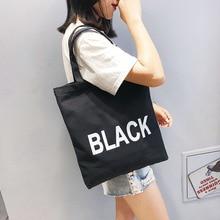 canvas soft foldable tote large capacity women eco shopping bag ladies reusable handbags casual beach