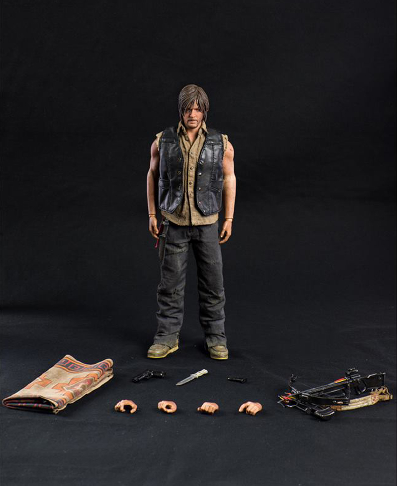 1/6 Scale Figure Movie The Walking Dead Daryl Dixon Full Set Action Figure set with the Weapons and hands 1