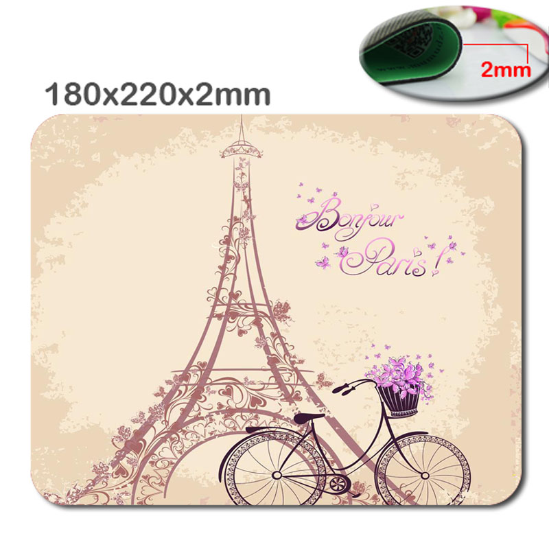 Eiffel Tower Love Paris Rectangle Mouse Pad  Personalized Custom Standard Oblong Mouse Pad Gaming Mousepad In 220mm*180mm*2mm
