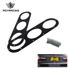 1 пара Универсальный алюминиевый сплав задний бампер гоночный воздушный диверсии диффузор панель автомобиля Стайлинг автомобильные аксессуары PQY-RBD01