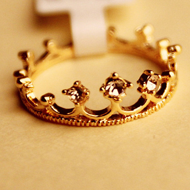 G221 Hot Selling New Fashion Crystal Crown Ring Wedding Vintage Jewelry Wedding Accessories For Women Anillos Anel Lady Girl