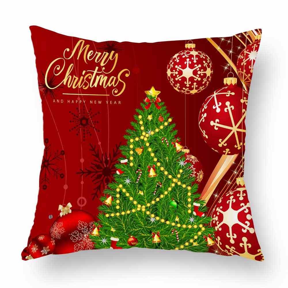 Счастливого Рождества Санта Клаус Снеговик Рождественский Чехол на подушку дерево олень наволочка для мягкой подушки 45X45 см диван украшения