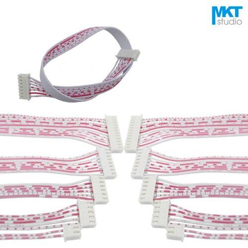 Câble Double XH2.54 AWG26 fil rouge blanc | 100 pièces, 30cm Double XH2.54 câble 2P 3P 4P