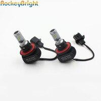 Rockeybright 2 conjuntos de cabeça auto luz 50 w 8000 lumens LED kit para bmw e90 Headlitghts H13 LED Cabeça Nevoeiro acessórios da lâmpada automotiva