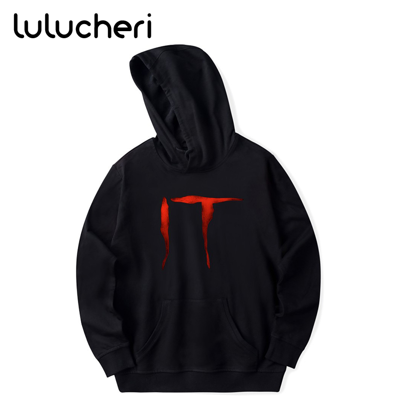 Stephen King's It Hoodie Horror Movie IT  Sweatshirts Men Hip Hop Streetwear Halloween Winter Warm Hooded Coat For Men Women