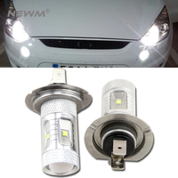 30W H7 Cree LED Lamp Vehicle Car Fog Light Bulb 6pcs Cree Leds Fog Lamp Universal