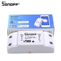 SONOFF basique sans fil Wifi commutateur télécommande Module d'automatisation bricolage minuterie universelle Smart Home 10A 220V AC 90-250V