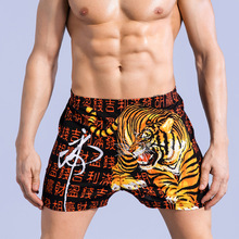 Chinese auspicious sexy men's boxers cotton fashion Arro pants personality red four corners gay underwear men