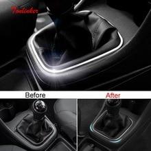 Tonlinker gear edge position Cover наклейка для Volkswagen POLO MT 2013-18 автомобильный Стайлинг 1 шт. крышка из нержавеющей стали наклейка