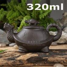 Heißer Verkauf! 2015 chinesischen yixing Clay Kung Fu Teekanne Schildkröte Teekanne 320 ml hochwertigen Handgefertigten Zisha Keramik Sets Porzellan Wasserkocher