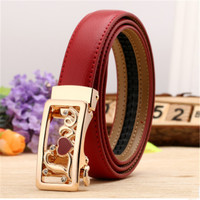 Belts For Women Designer Brand High Quality Second Layer Cow Genuine Leather Thin Belt Woman New