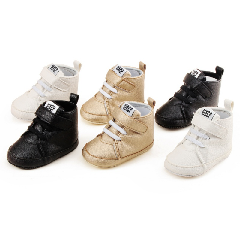 Toddler Newborn Shoes First Walker Pu Leather Autumn Winter Fashion Baby Kids Boy Girl Soft Sole Canvas Sneaker