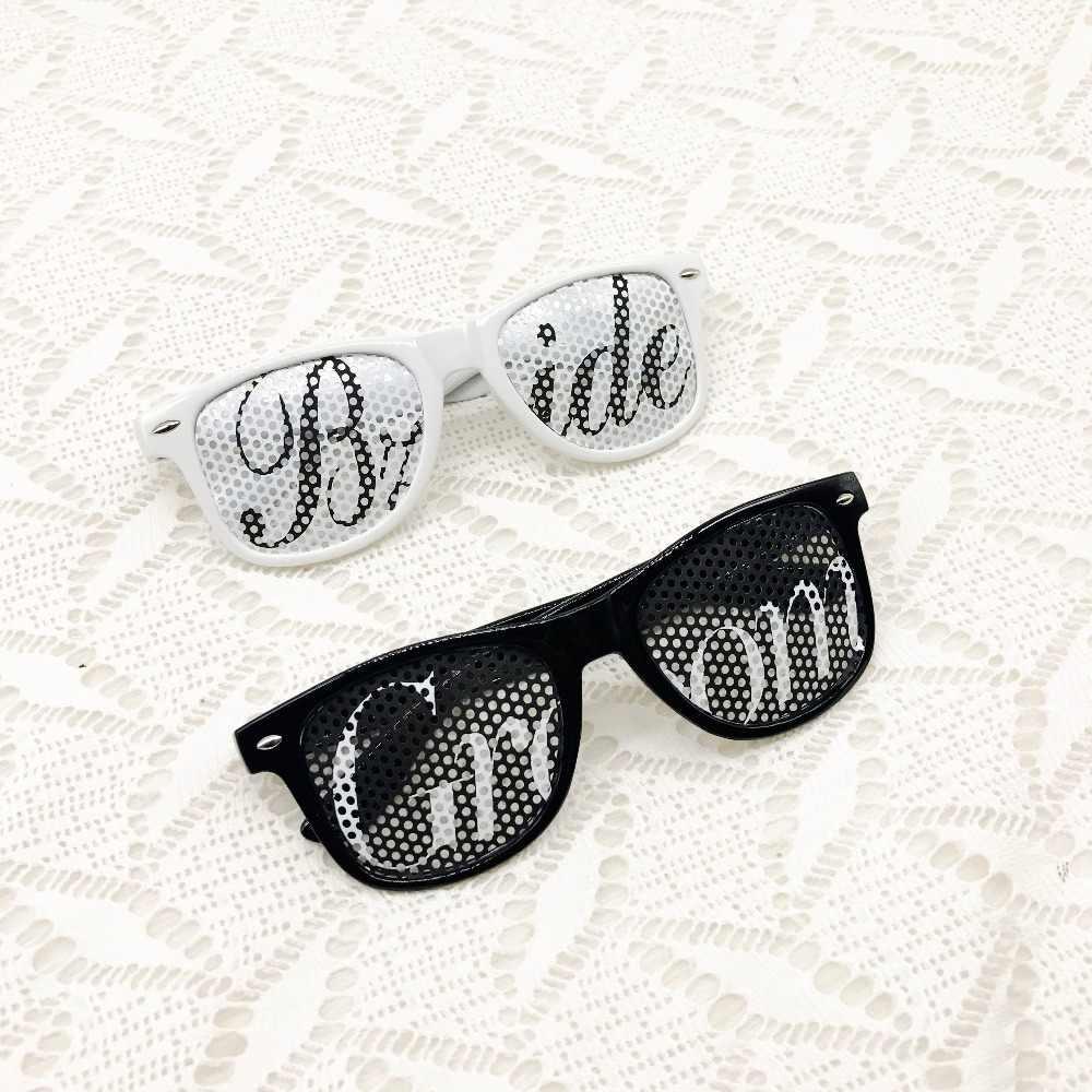 Gafas de sol de fiesta de boda para novia y novio