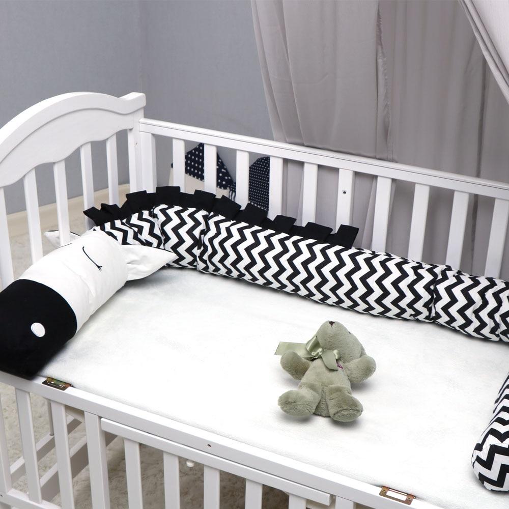 Crib Bumper  Creative Crocodile Plush Pillows Crib Bumper Pads Baby Crib Liner Cartoon Animal Pillows Bed Children Cradle Newbor