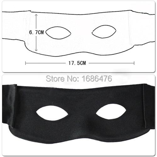 Eye Mask Costume Highway man Robber Fancy Dress Black Zorro Bandit Thief UK