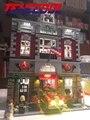 Luz led para arriba el kit para lego 10197 estación de bomberos creador calle de la ciudad bloques de construcción de ladrillos de juguete