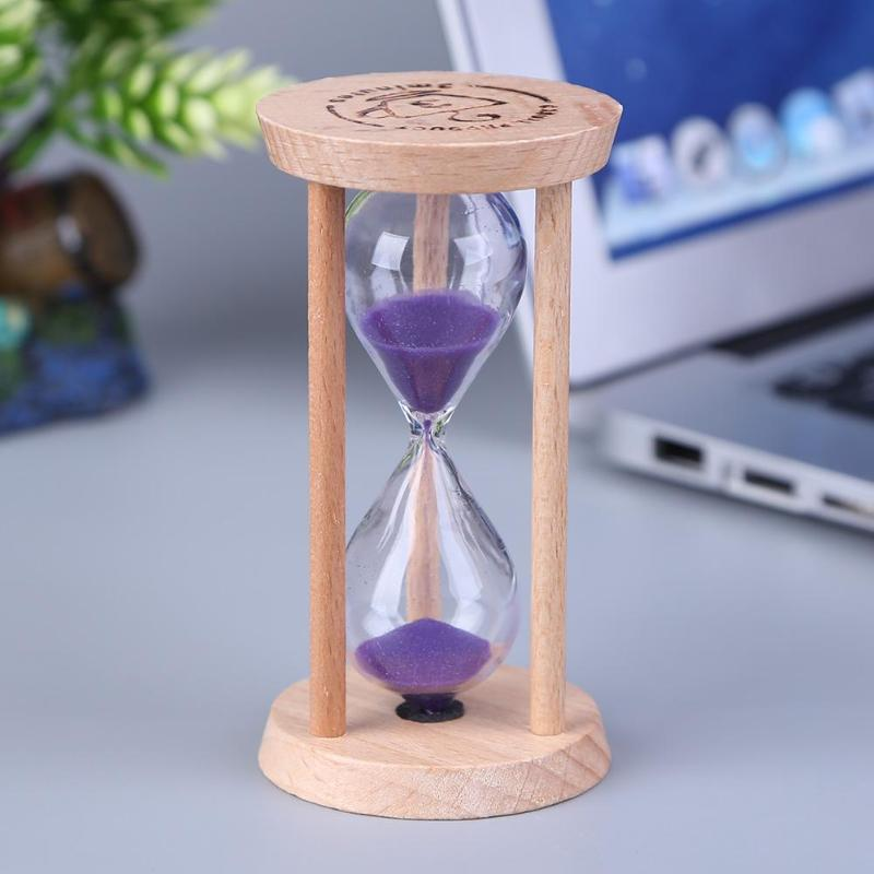 Wooden Hourglass Sand Clock 3 Minutes Hourglass Sandglass Kids Toothbrush Timer Time Counter Children Gift Home Decoration image