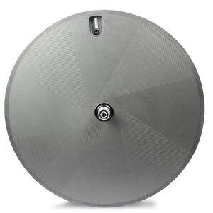 Image 2 - ELITEWHEELS 1050g סופר אור משקל מלא פחמן דיסק הנימוק המכריע Tubular לאופני כביש טריאתלון זמן מסלול TT אופניים