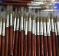 Tops Tamaño de la Venta 20 # Alta Calidad Kolinsky Sable Pen Con rojo Mango De Madera Pintura de Uñas Cepillo de Uñas de Acrílico Profesional Salon