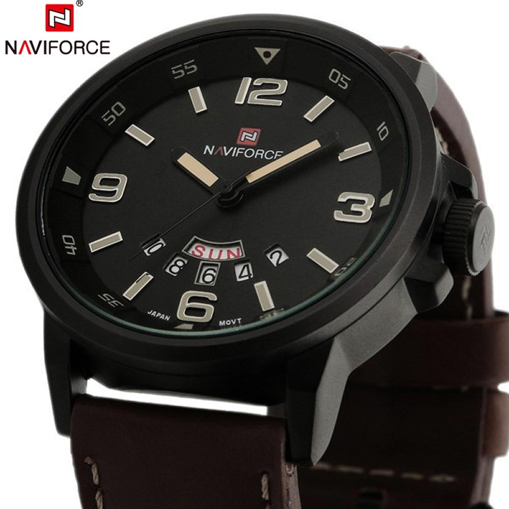 NAVIFORCE Mens Watch Japan Quartz Movt Wristwatch Sport Camping Fashion Clock Auto Date Display Watches Man Relogio Masculino