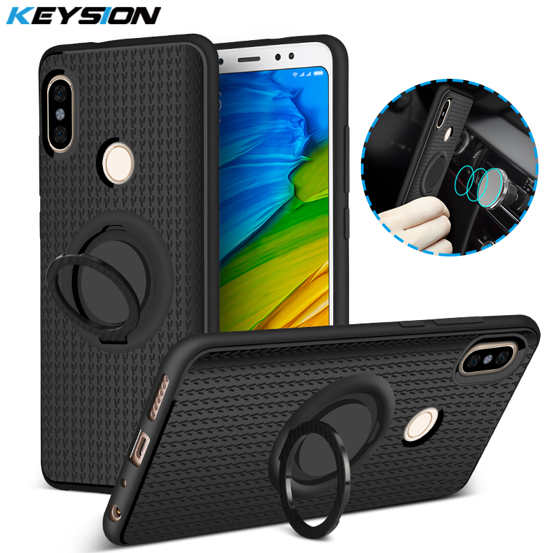 KEYSION Back-Cover Finger-Ring Magnetic-Suction-Bracket Xiaomi Note-5 4-3-Redmi For Note-5/Pro/4-3-redmi/..