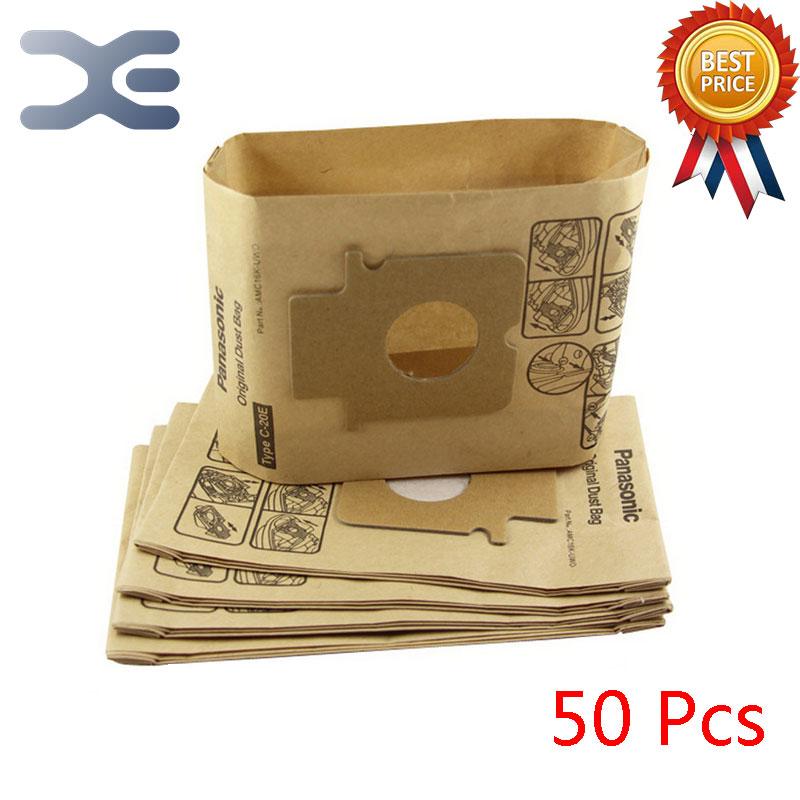 50Pcs High Quality Compatible With Panasonic Vacuum Cleaner Accessories Dust Bag Paper Bag C-20E / MC-CG381 / CG383 / CG461 high quality compatible with for sanyo vacuum cleaner accessories dust bag bag sc s280 y120 33a s280