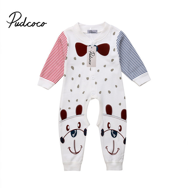 87b0e8d05c2d Pudcoco Newborn Infant Baby Boy Girl Clothes Striped Spring Autumn ...