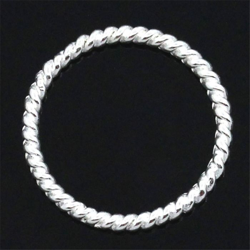 DoreenBeads Closed Jump Rings for Connectors/Pendants Jewellry Findings Silver color Striped 18mm Dia,50PCs