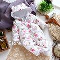 Retail 2014 nueva otoño invierno del mameluco del bebé ropa de lana Polar global niña algodón mameluco recién nacido mono de la historieta de los mamelucos