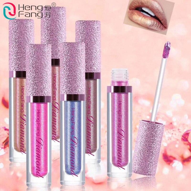 HengFang Beauty Sexy Metallic Colors Matte Pearls Lipstick Waterproof Lasting Matter Shimmer Liquid Lipstick Lip Gloss Cosmetic