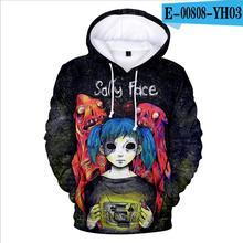 купить Game new Sally Face 3D Hoodies Men/women Fashion Hot 3D Print Harajuku Sally Face Sweatshirt Men women Casual Clothes shirt дешево