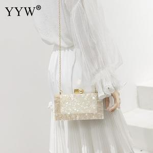Image 4 - YYW Marblingสีขาวอะคริลิคกล่องกระเป๋าคลัทช์กระเป๋าถือผู้หญิงBgas Designer Pochette Femme Clutchฤดูร้อนอะคริลิคกระเป๋า