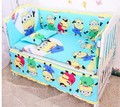 Promotion! 6PCS baby bedding sets baby crib set for boys ropa de cuna ,include(bumpers+sheet+pillow cover)