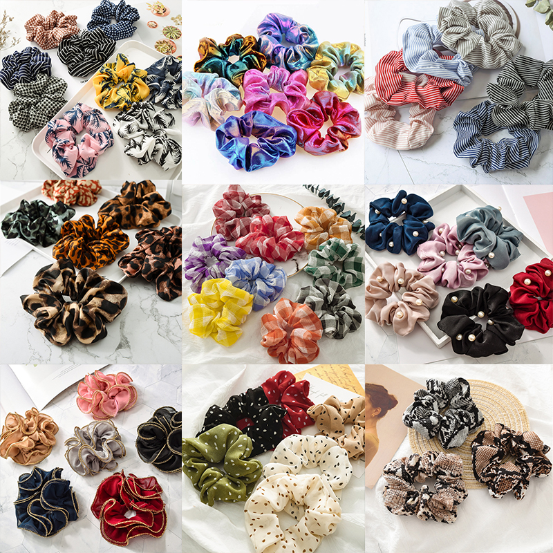 Wholesale 1 PC Fashion Leopard Print Snake Elastic Hair Bands Women Stretch Ponytail Print Headband   Headwear   Hair Accessories