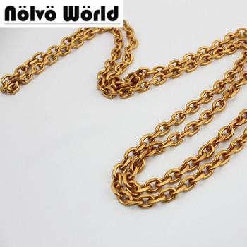 10 meters 7mm Antique Gold chain for sewing women bolsas handbag strap bag parts chain