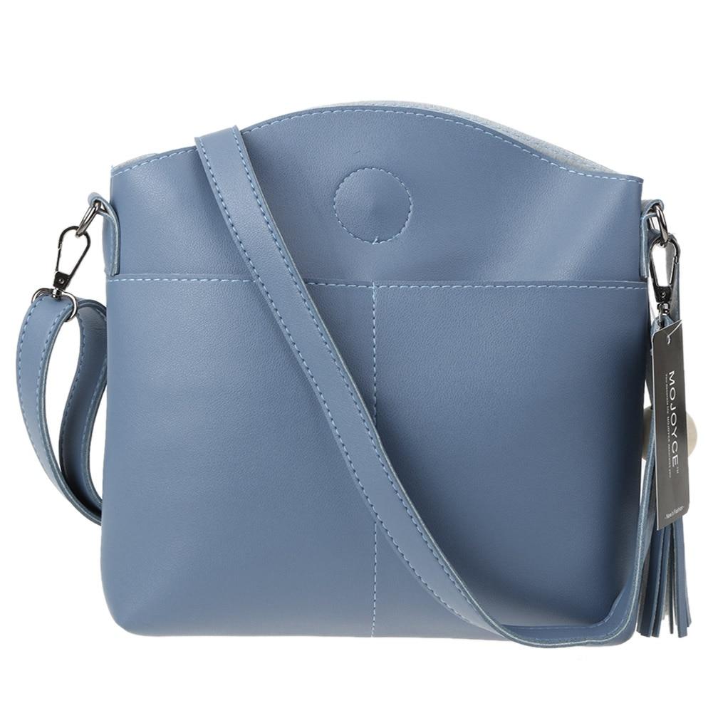 PU Leather Women Messenger Bags Double Pocket Wooden Bead Tassel Shoulder Crossbody Bag Tote Handbag Designer Bolsas Feminina