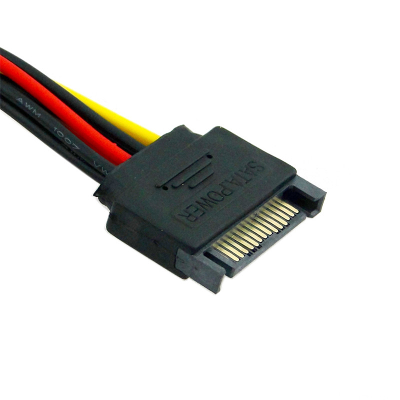 P4 Molex IDE to SATA Power Adapter Cable Lot of 3