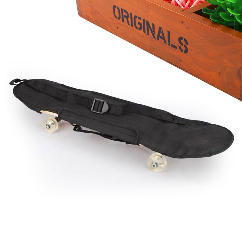 Black Skateboard Carrying Bag 4 Wheels Skateboard Bag Skateboard Double Rocker Backpack Black Carry Bag Skateboard Cover Skate