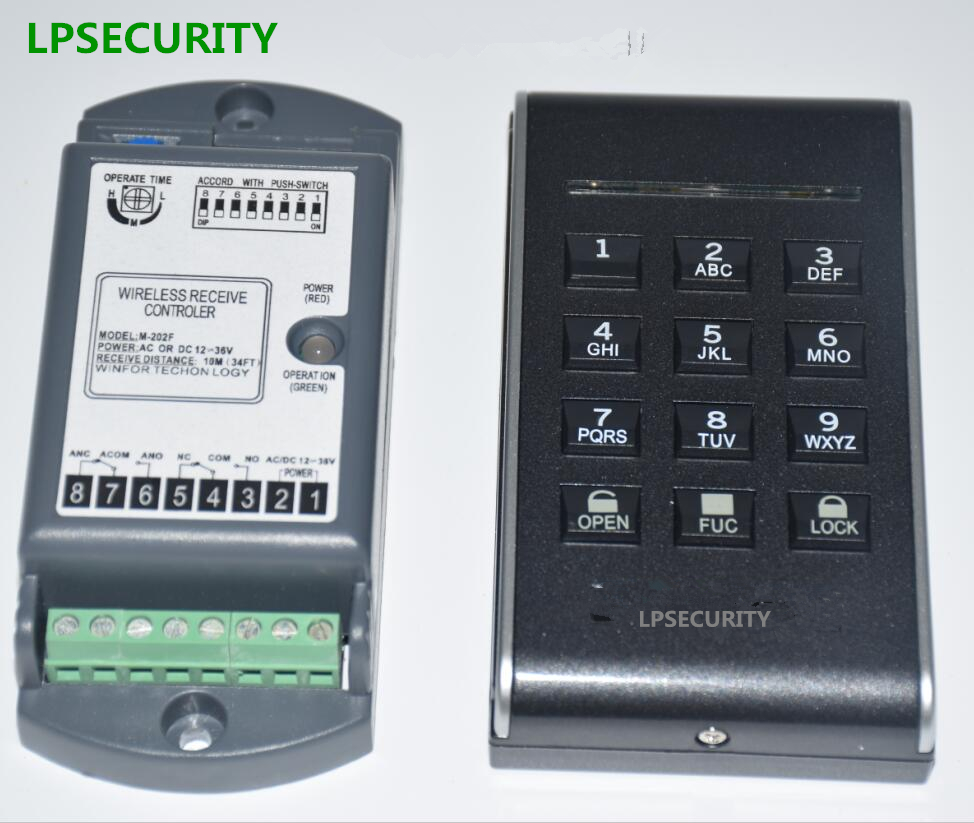 Фотография LPSECURITY security wireless garage sliding swing gate door programmable access control keypad(battery not included)